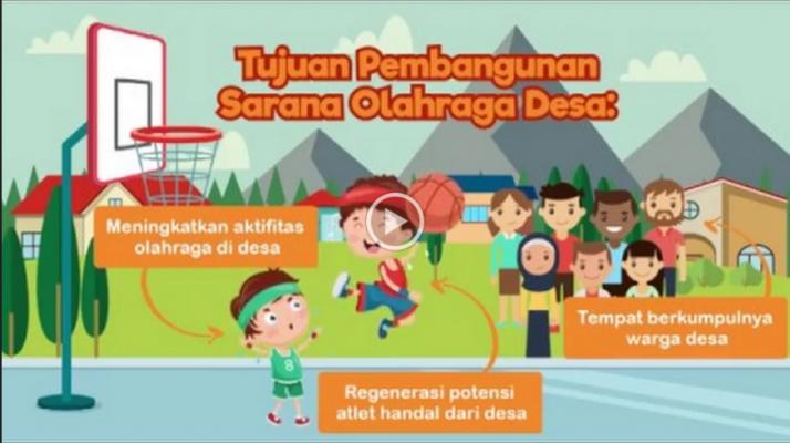 Sarana Olahraga Desa Tingkatkan Potensi Warga Desa