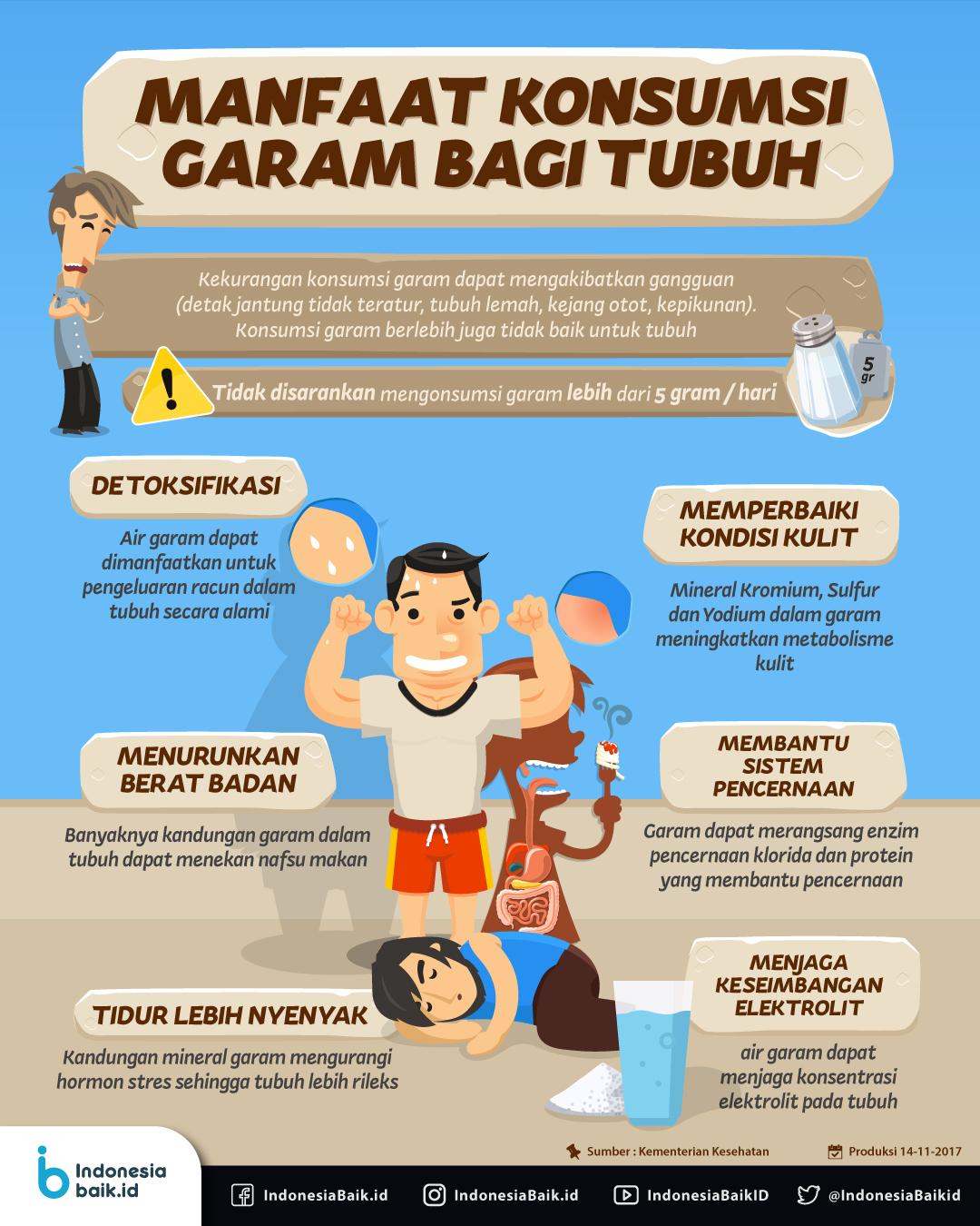 Manfaat Konsumsi Garam Bagi Tubuh Indonesia Baik
