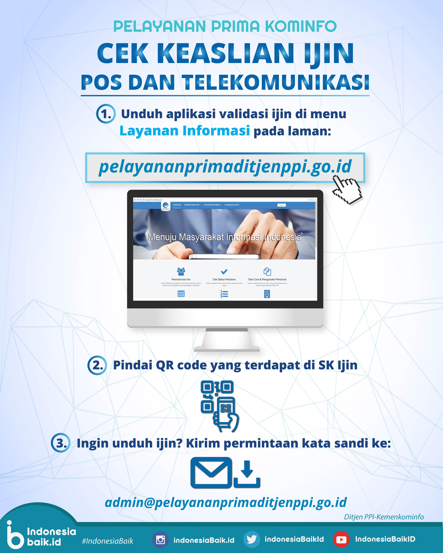 Cek Keaslian Ijin Pos dan Telekomunikasi