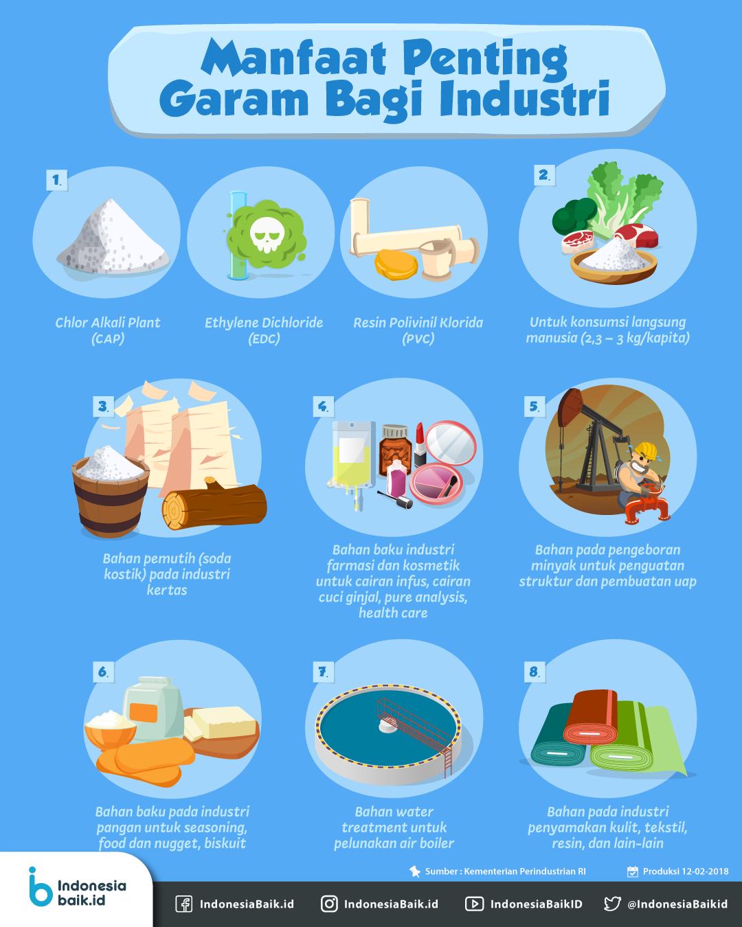 Manfaat Penting Garam Bagi Industri