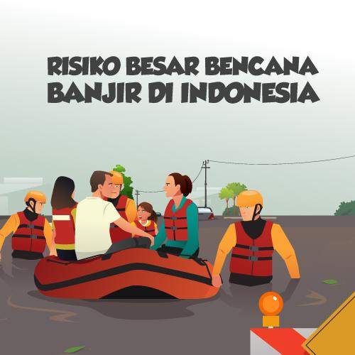 [Infografis] Risiko Besar Bencana Banjir di Indonesia-inf