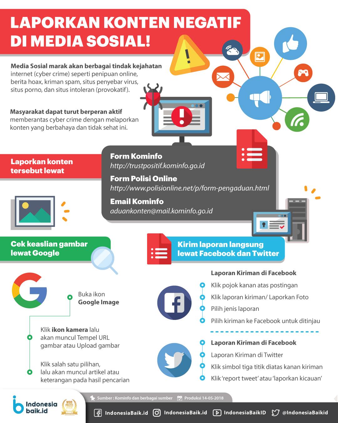 Laporkan Konten Negatif di Media Sosial!