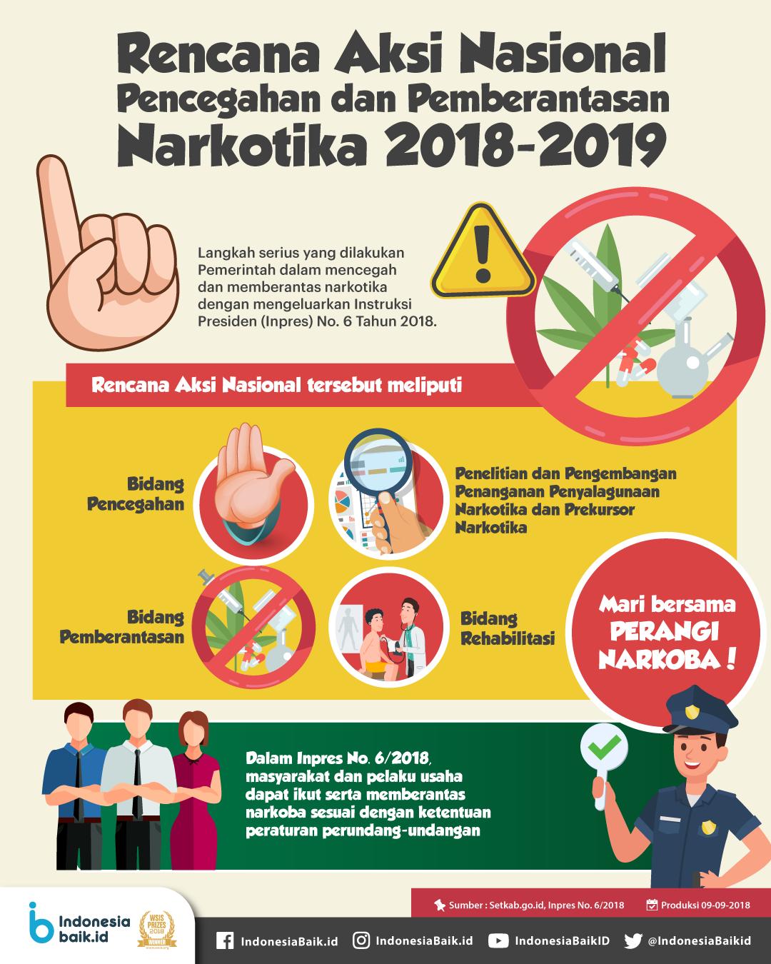 Rencana Aksi Nasional: Pencegahan dan Pemberantasan Narkotika 2018-2019