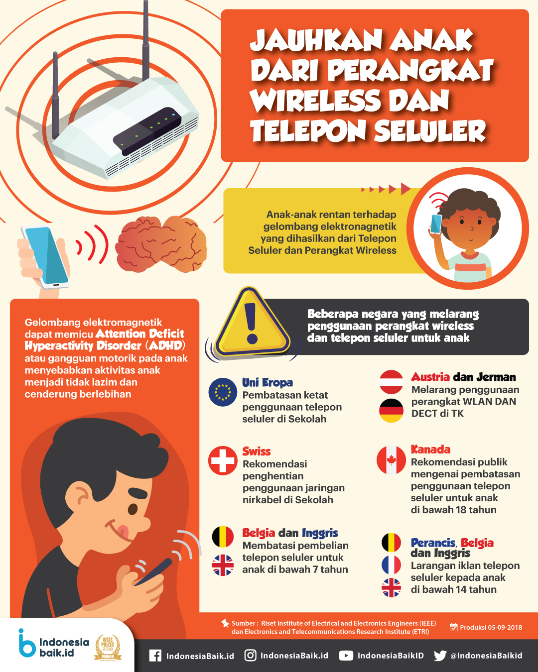 Jauhkan Anak Dari Perangkat Wireless dan Telepon Seluler