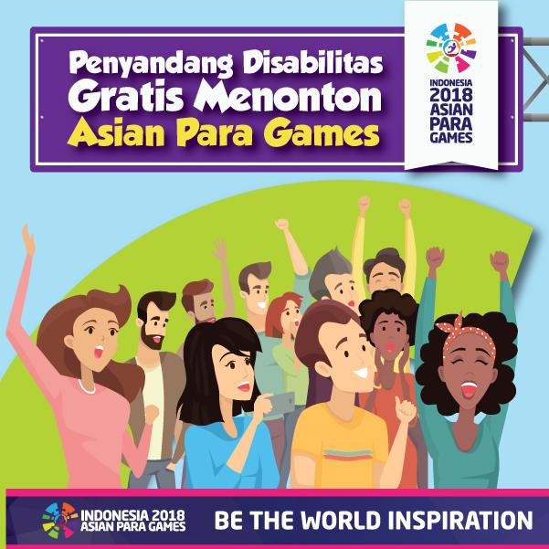 Penyandang Disabilitas Gratis Menonton Asian Para Games-inf