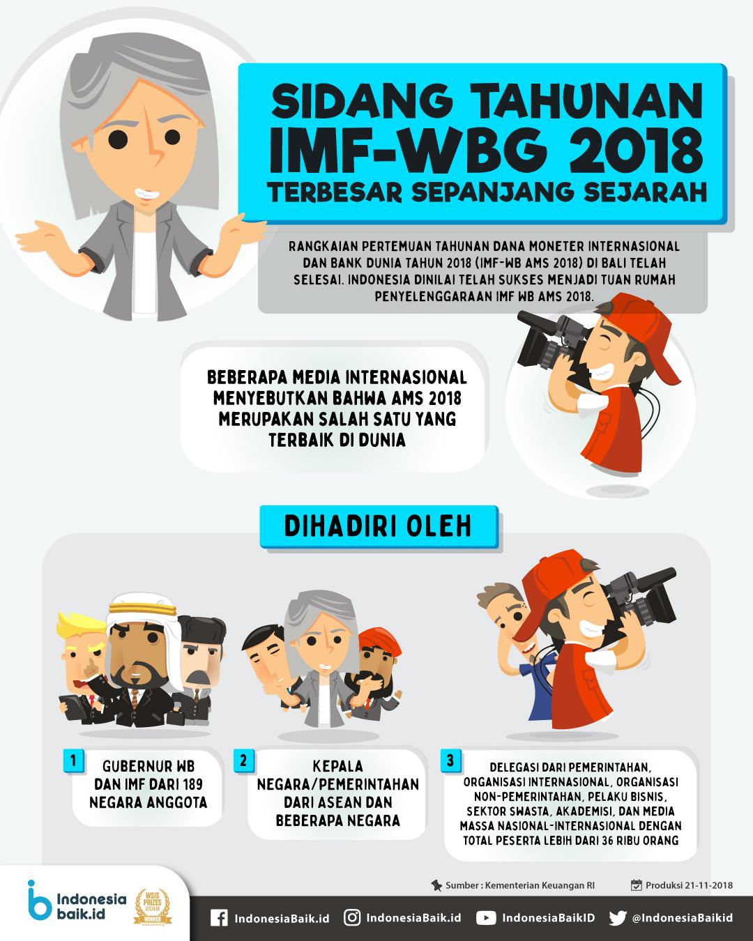 Sidang Tahunan IMF-WBG 2018,  Terbesar Sepanjang Sejarah