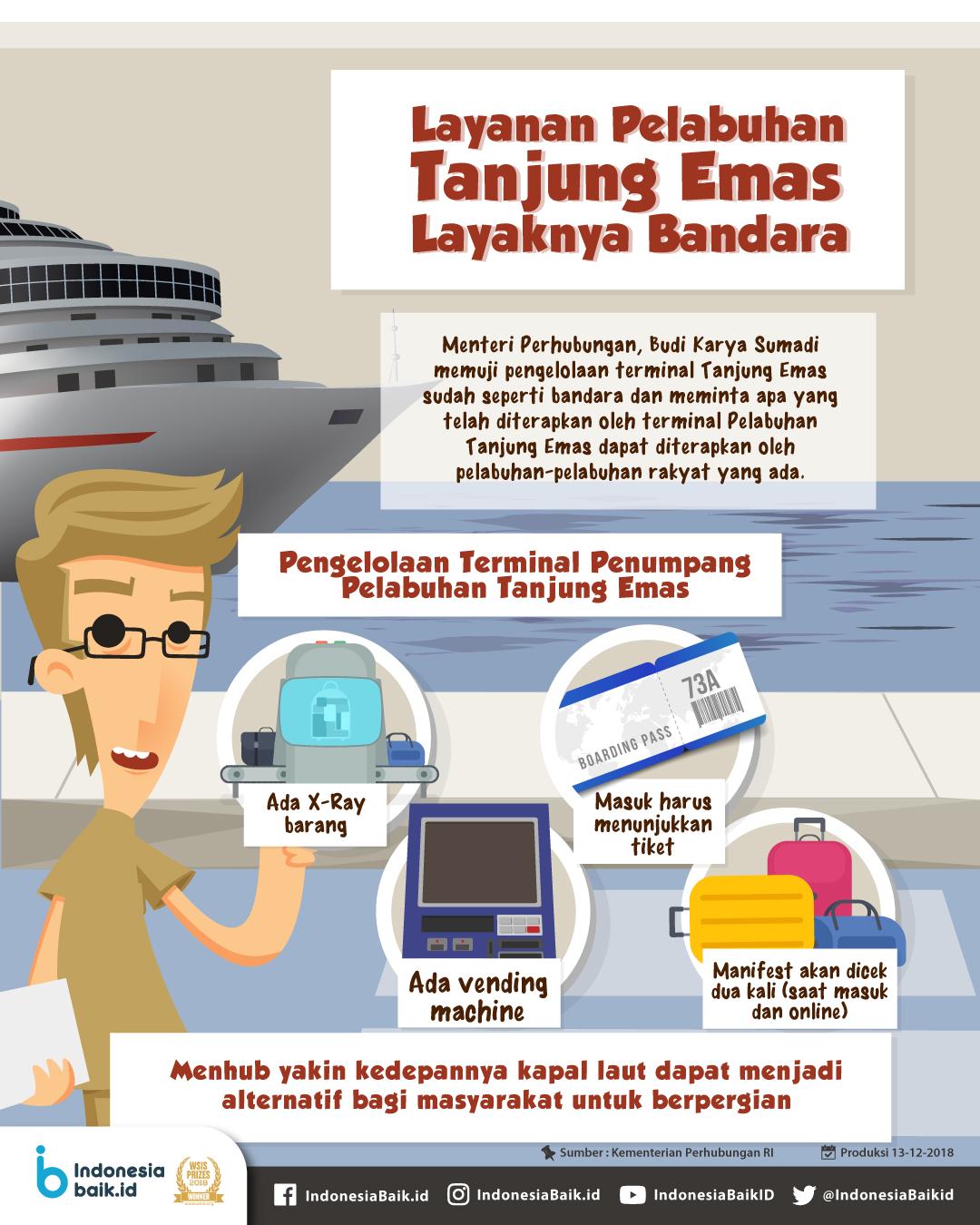 Layanan Pelabuhan Tanjung Emas Layaknya Bandara