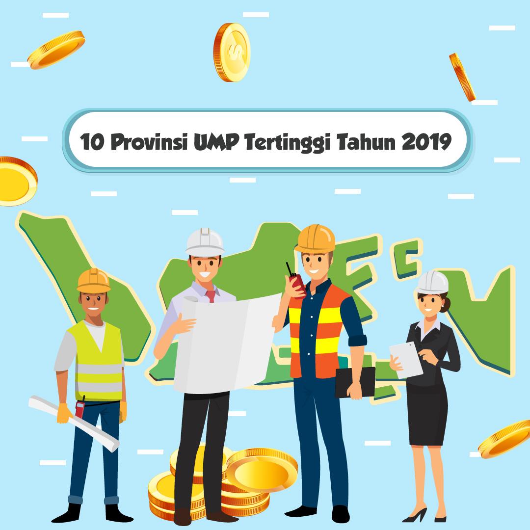 10 Provinsi UMP Tertinggi Tahun 2019-inf