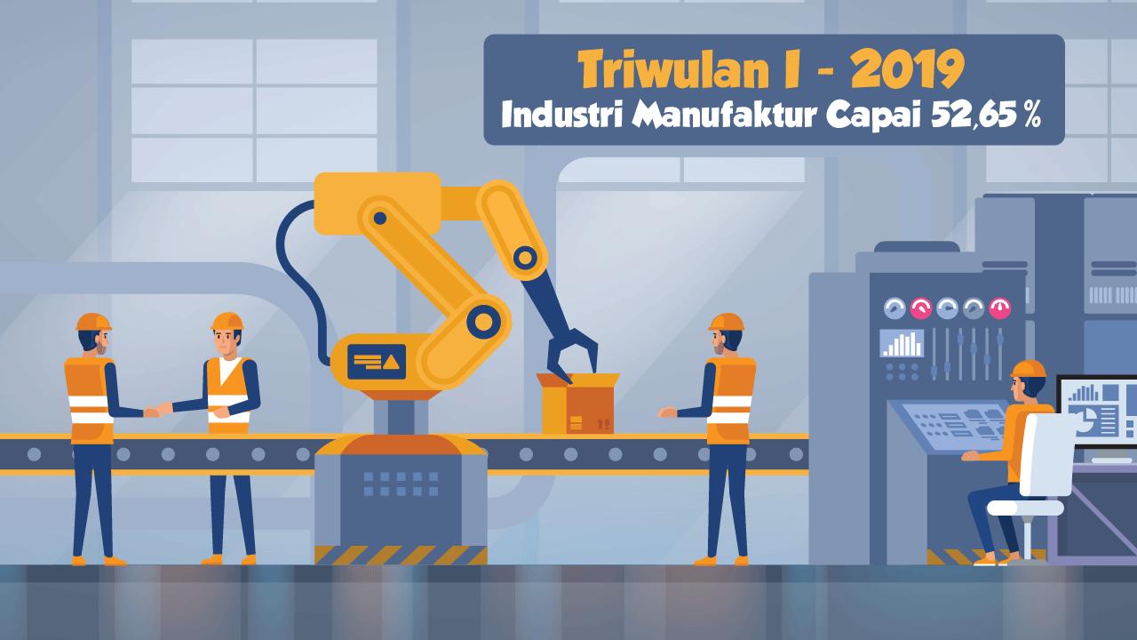 Triwulan 1-2019, Industri Manufaktur Capai 52,65%-thum