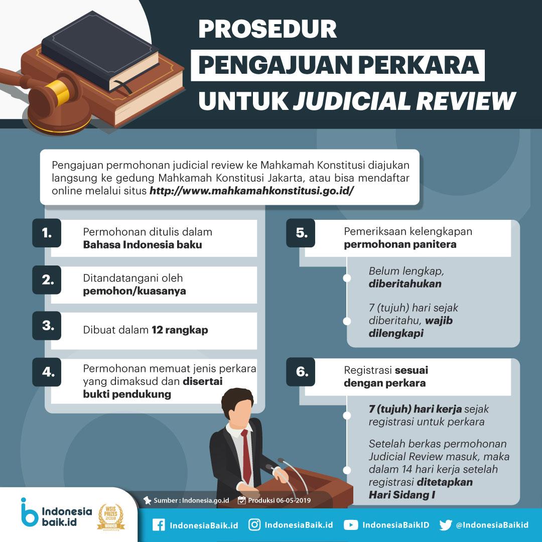 Prosedur Pengajuan Perkara untuk Judicial Review
