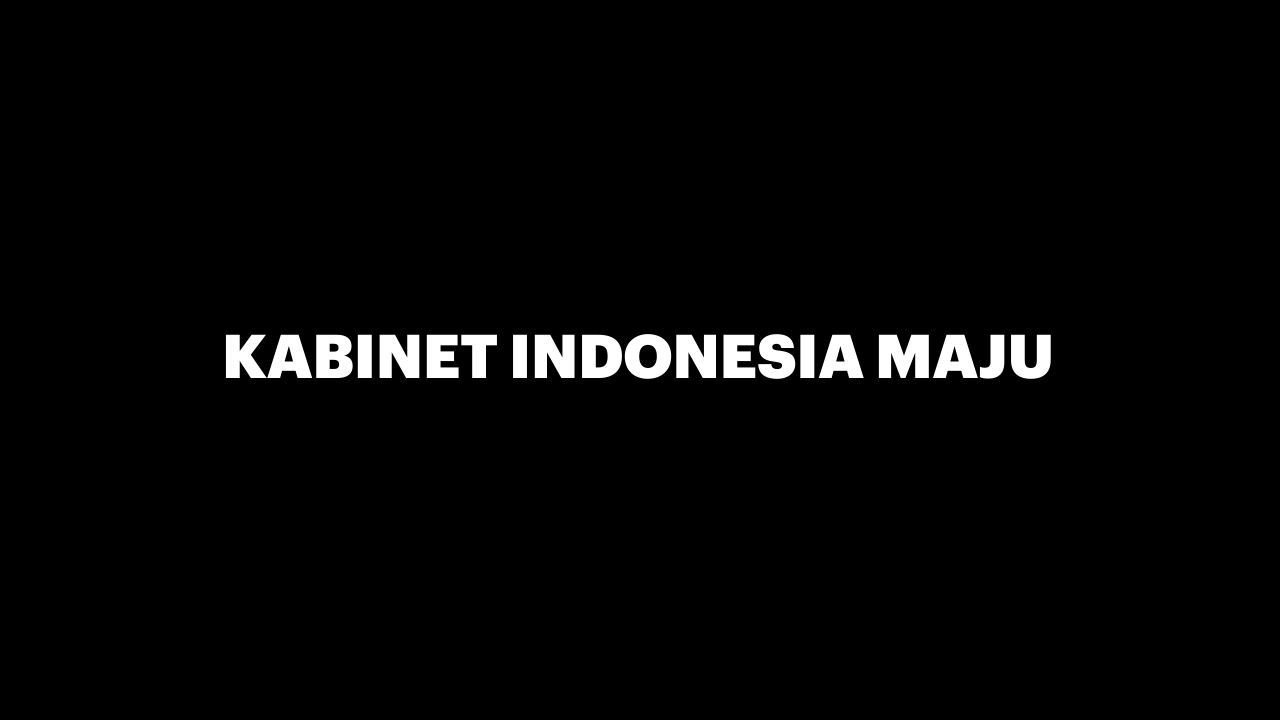 Susunan Menteri Kabinet Indonesia Maju Periode 2019-2024-thum