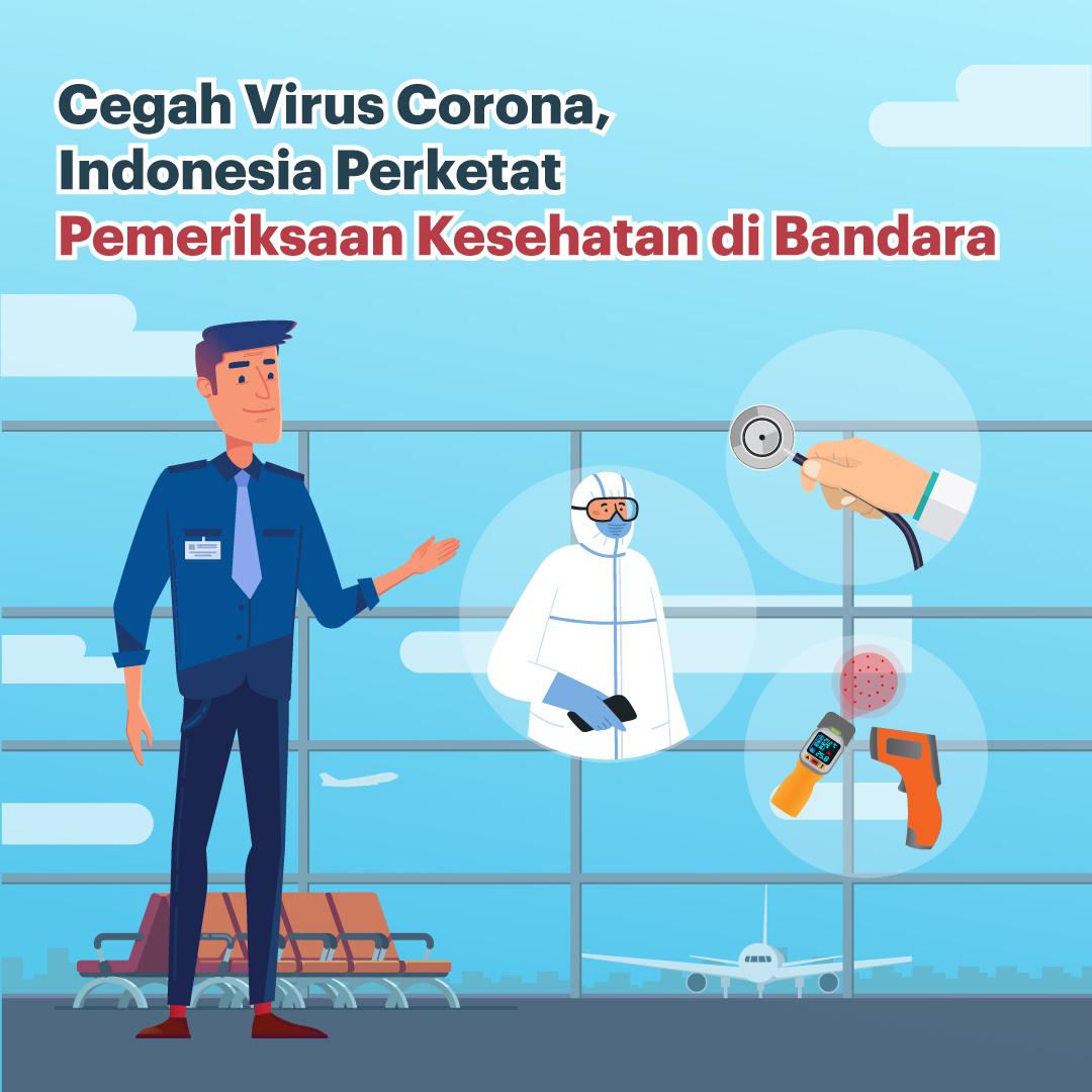 Indonesia Perketat Pemeriksaan Kesehatan di Bandara-inf